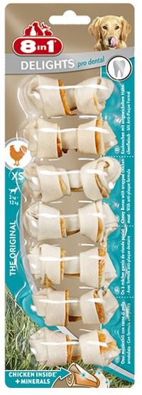8in1 Dental Delights Bones XS 7szt