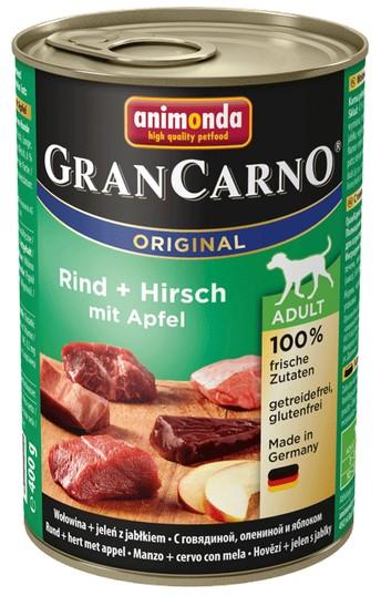 Animonda GranCarno Adult Hirsch Apfel Jeleń + Jabłko 400g