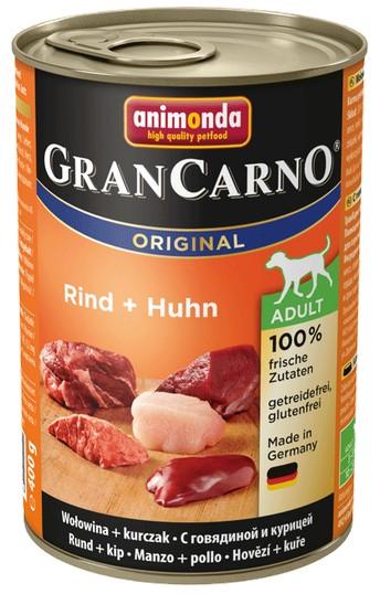 Animonda GranCarno Adult Rind Huhn Wołowina + Kurczak 400g