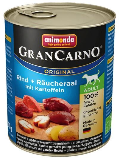 Animonda GranCarno Adult Rind Raucheraal Wołowina + Węgorz + Ziemniaki 800g