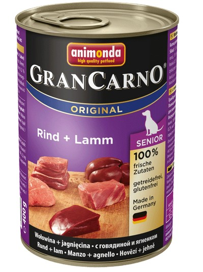 Animonda GranCarno Senior Rind Lamm Wołowina + Jagnięcina 400g