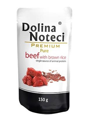 Dolina Noteci Premium Pies Pure Wołowina i ryż saszetka 150g