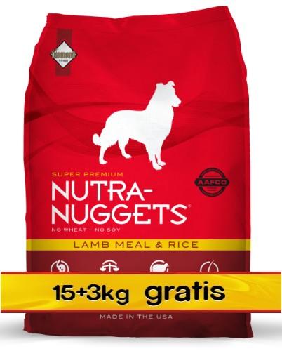 Nutra Nuggets Lamb & Rice Dog PROMOCJA 18kg (15kg+3kg)