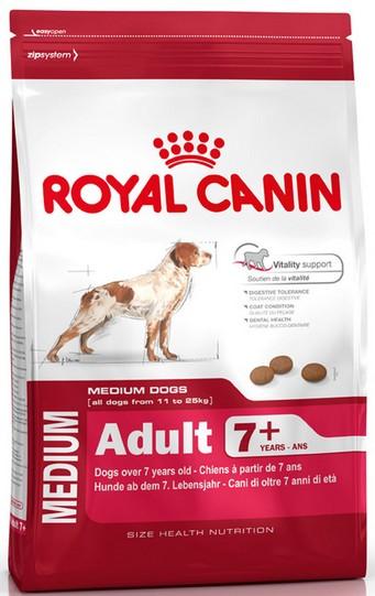 Royal Canin Medium Adult 7+ karma sucha dla psów starszych od 7 do 10 roku życia