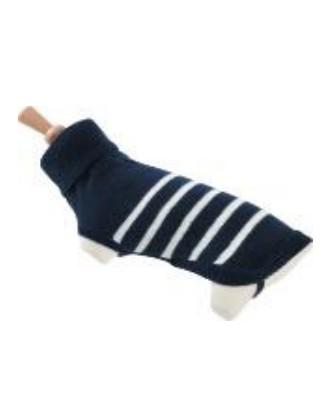 Zolux Sweterek z golfem w paski 30cm niebieski [410955BLE]